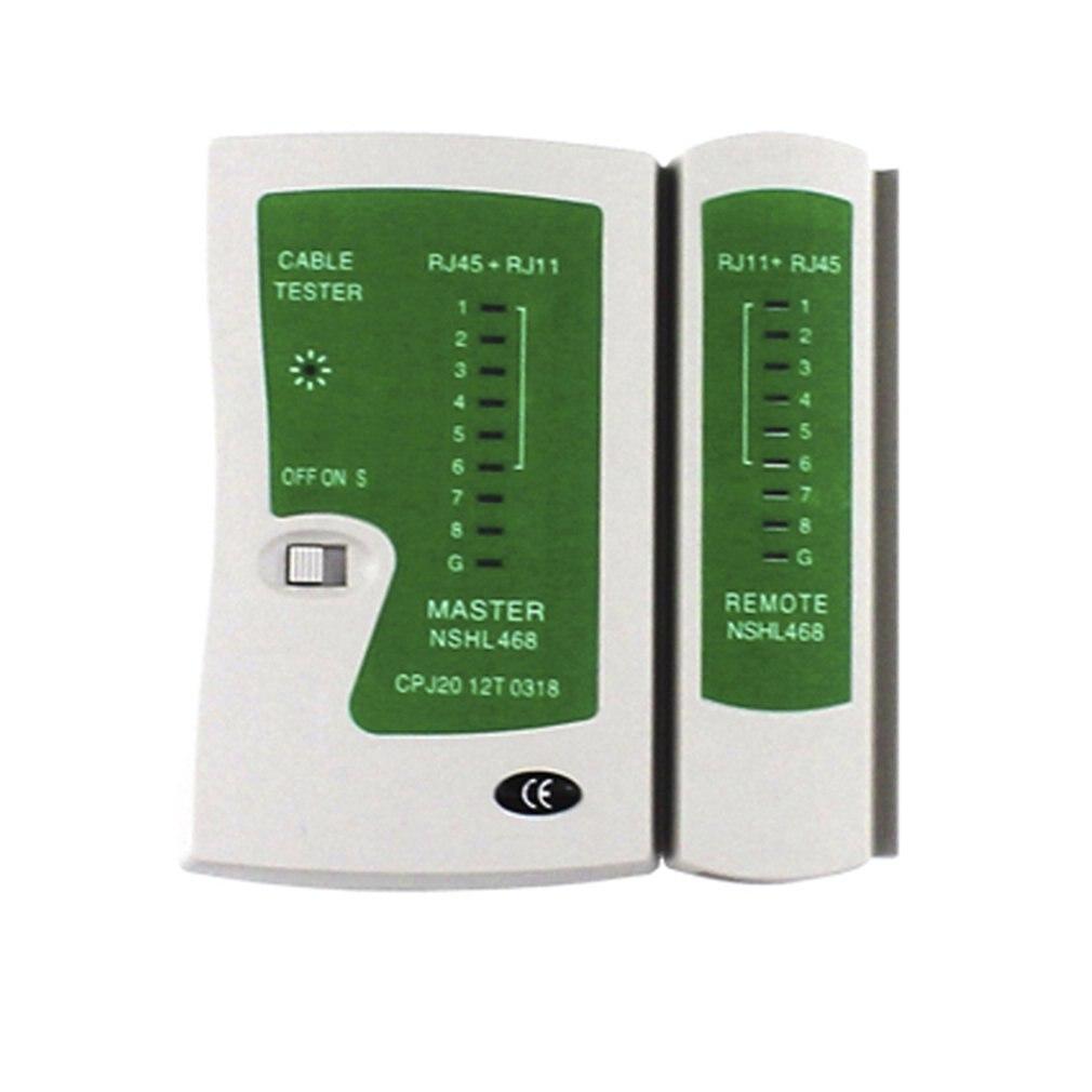 Rj45 rj11cat5 cat6 lan cable tester handheld cabo de rede fio linha telefone detector rastreador kit ferramenta