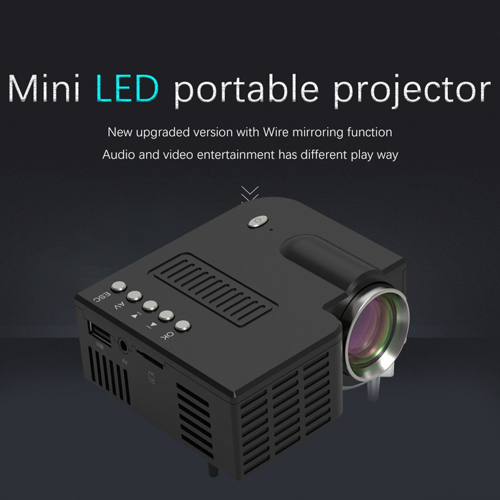 UC28C Portable Projector Wired Same Screen 1080P Full HD Media Player LCD Projector Home Theater Movie Device Digital Projector enlarge