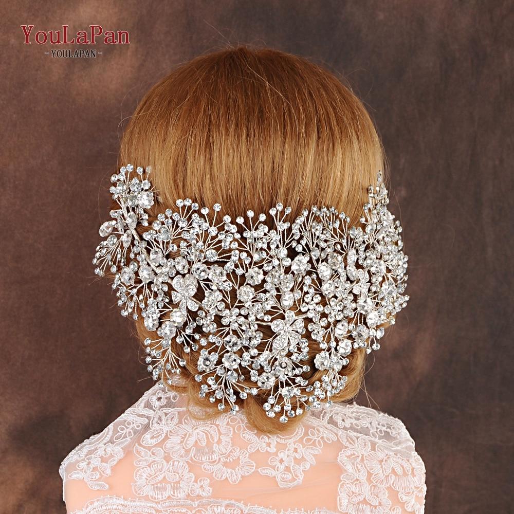 Accesorii par mireasa aurie cristal bijuterii par nunta fascinator - Accesorii de nunta - Fotografie 4