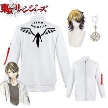 Anime Tokyo Revengers Kazutora Hanemiya Cosplay Costume Coat Jacket Valhalla Uniform Baseball Coat H