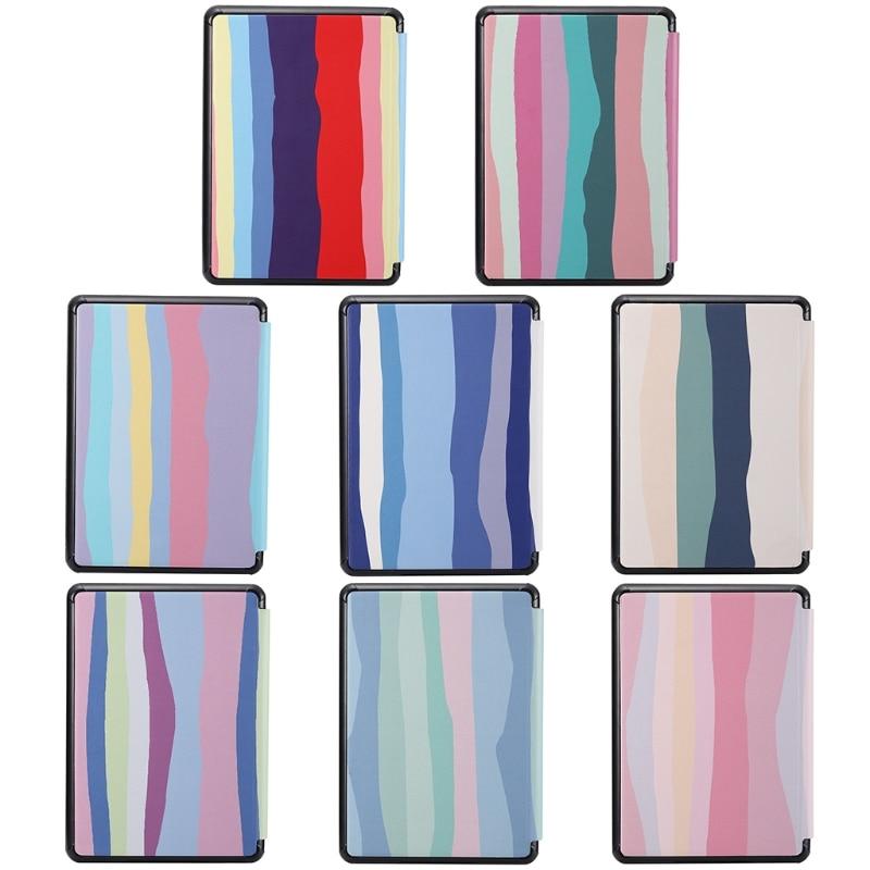 C9gd kindle caso para 10th j9g29r 6 Polegada 2019 caso pc tablet e-book capa traseira rainbow pattren tela capa protetora