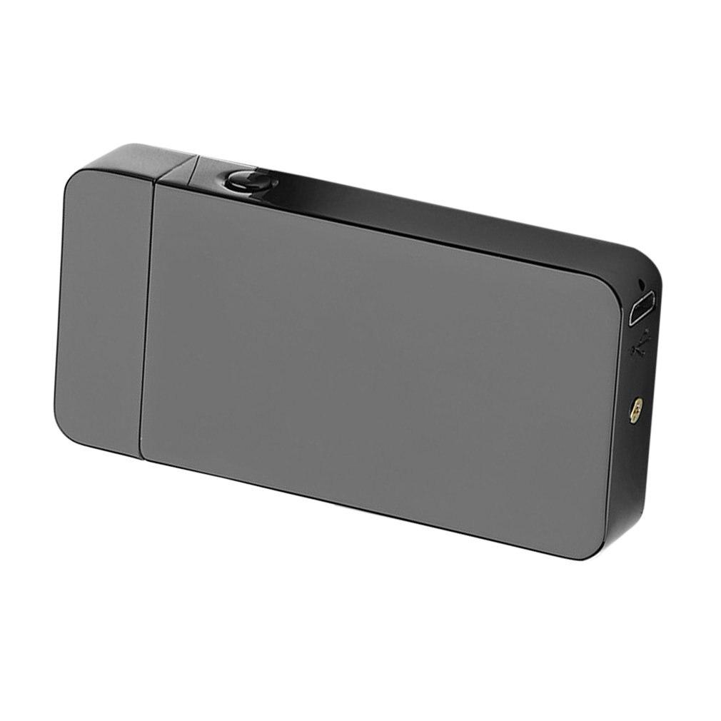 USB eléctrico de doble arco de Metal sin llama antorcha recargable a prueba de viento encendedor No se requiere Gas o combustible encendedor