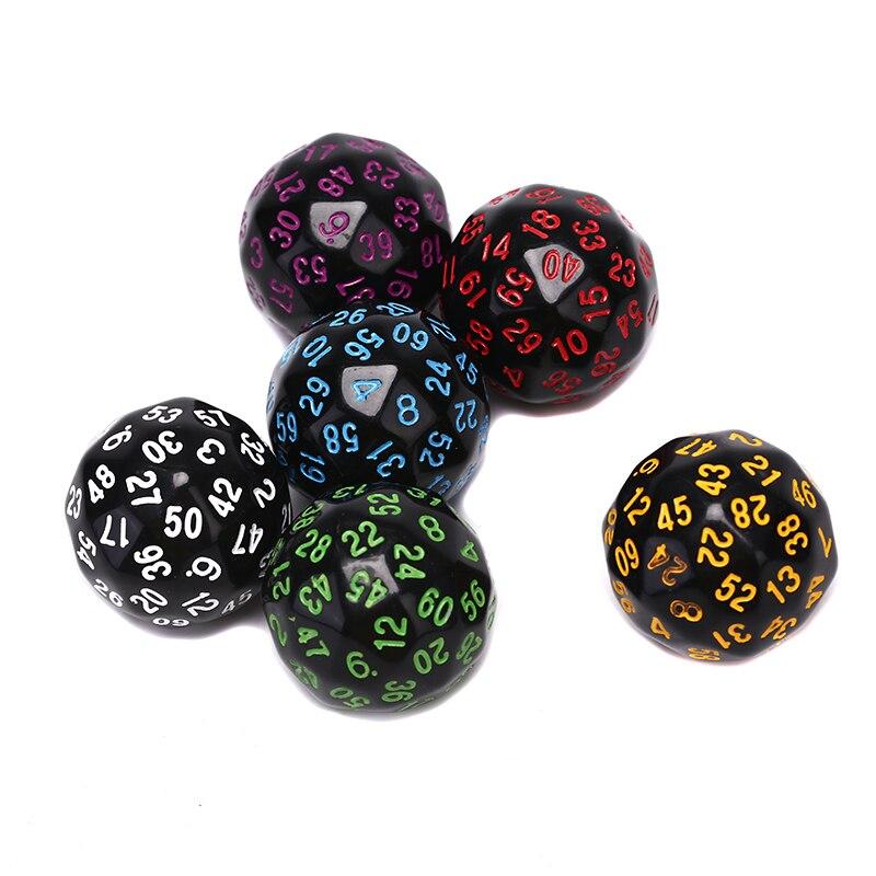 1pc d60 multi face dados acrílicos 60 enfrenta dados para jogo polyhedral presente para os amantes do jogo equipamento do entretenimento da festa do jogo