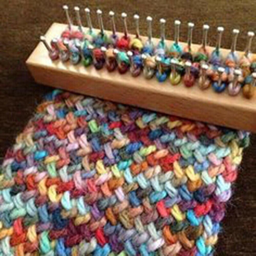 1 Juego de tablas de madera para tejer telar marrón claro tablero de telar tejido de madera telar herramienta para tejer DIY herramientas de costura de ganchillo