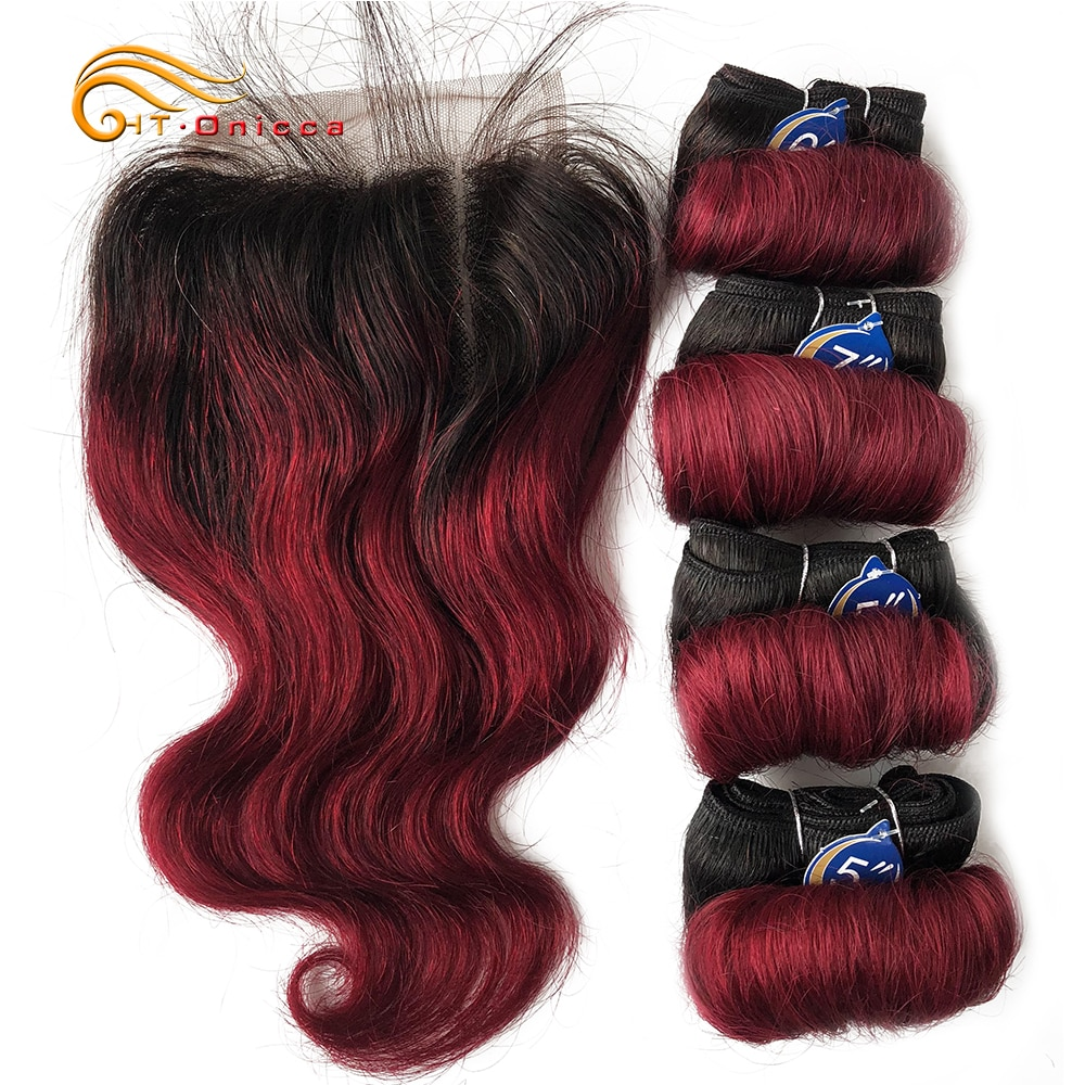AliExpress - Indian Hair Bundles With Closure Transparent Closure With Bundles Loose Wave Bundles With Closure Weave Short Hair Extensions