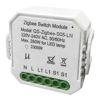 Zigbee     Module de commutation intelligent  avec interrupteur lumineux sans fil neutre  relais Tuya Smart Life  controle via application pour Google Home Alexa