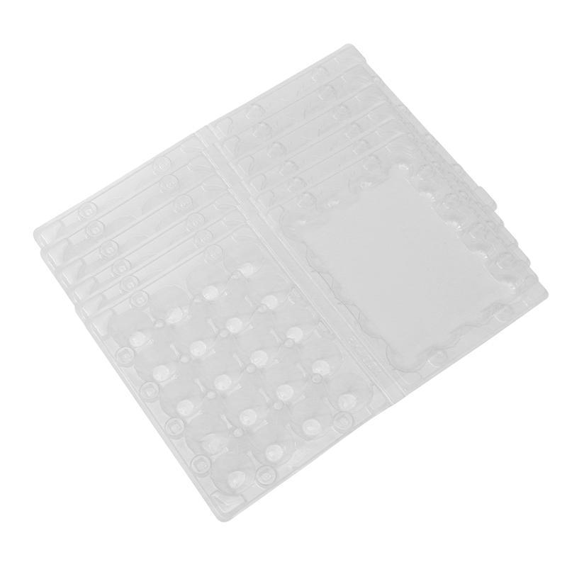 50pcs 20 Grids Quail Egg Tray Plastic Transparent Egg Dispenser Holder Egg Container Packaging Box
