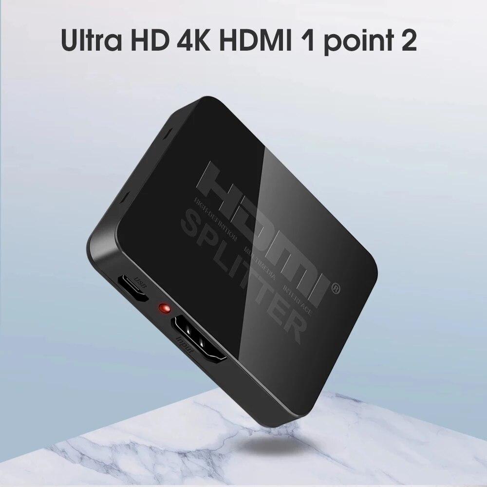 Hdmi-divisor compatível 1*2 para foros 1080p 4k 1x2 hdcp 3d amplificador de...