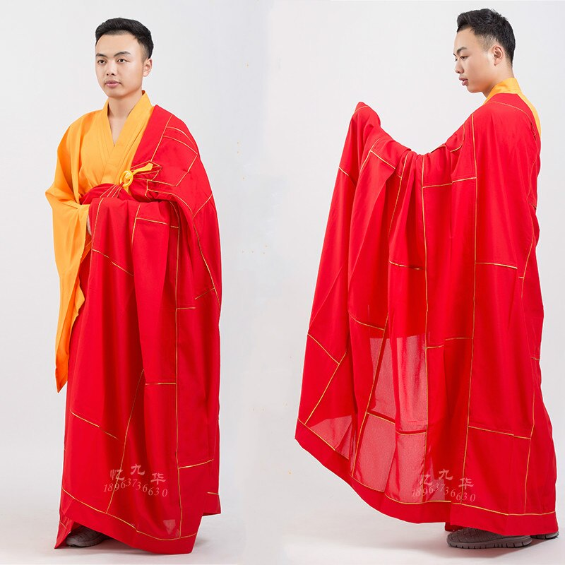 Unisex Robe Meditação Zen Monk Vestes Monge Budista Roupas Monge Do Templo de Shaolin Kung Fu Uniforme Ternos Monge Vestes Traje
