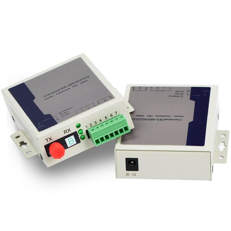 Two-Way 485 422 232 Data Optical Modem Optical Transmitter Fiber Optical Transceiver Extender Photoelectric Conversion 1 set