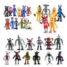 12 pièces cinq nuits à Freddys figurines ensemble FNAF Foxy Bonnie Freddy Fazbear emplacement soeur modèle poupées FNAF jouets