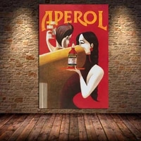 aperol wine canvas paintings vintage food drink kitchen decor poster and print wall art picture for living room bedroom unframed