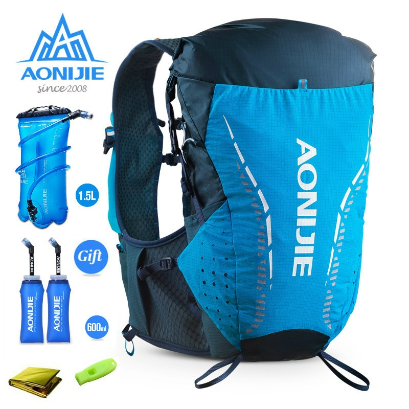 AONIJIE C9104 Ultra Vest 18L Hydration Backpack Pack Bag Soft Water Bladder Flask Hiking Trail Running Marathon Race SM XL 600ML