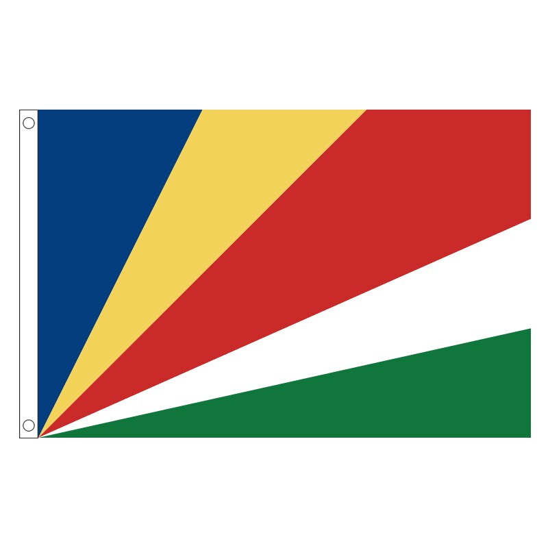 Frete grátis xvggdg seychelles bandeira bandeira 90*150cm pendurado seychelles bandeira nacional