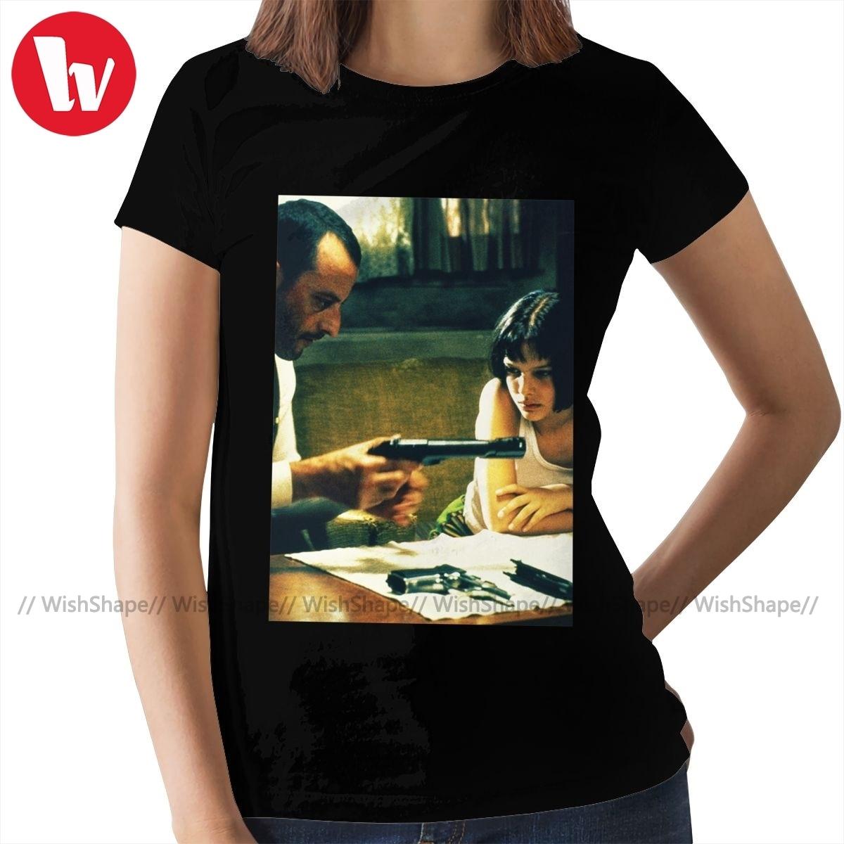 Camiseta profesional Leon The Professional, Camiseta con estampado de Leon The Professional de Portman, Camiseta de cuello redondo para mujer, camiseta para mujer
