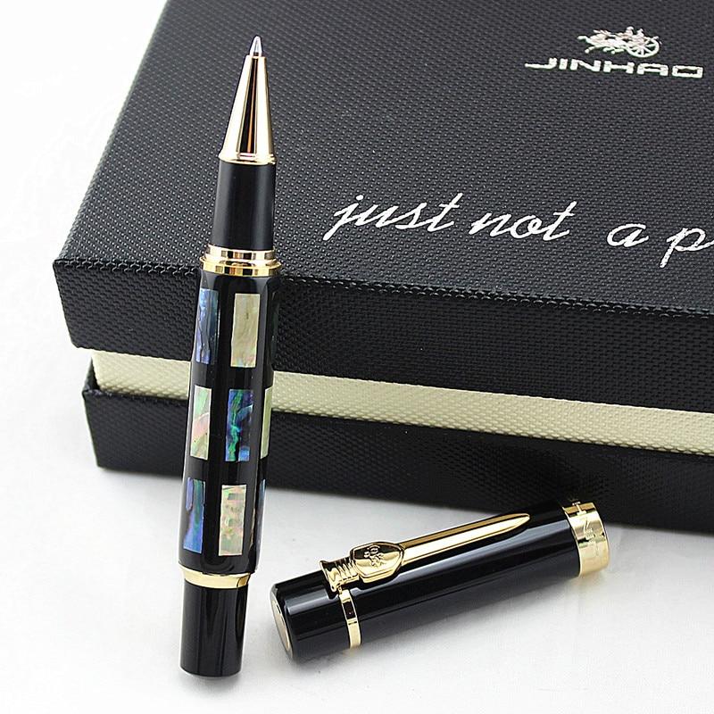 Ручка-роллер Jinhao большого размера с заправкой, яркий перламутровый зеленый морской корпус, подарок для письма, Офисная деловая ручка, товар...