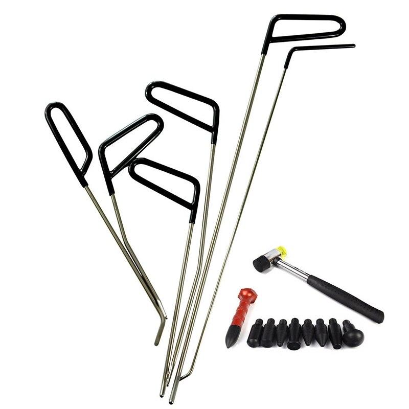 قضبان هوك أدوات بدون طلاء دنت إصلاح سيارة دنت أداة إزالة الصواميل عدة حائل المطرقة