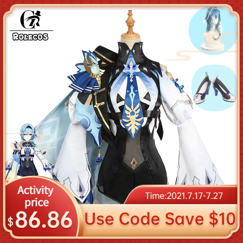 game genshin impact albedo cosplay costume carnival halloween performance outfit props men suit genshin impact costumes ROLECOS Genshin Impact Eula Cosplay Costume Uniform Cosplay Costume Women Halloween Party Outfit Game Suit Lovely Jumpsuits