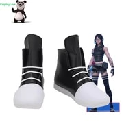 cosplaylove battle royale jawbreaker black white shoes cosplay long boots leather custom made