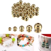 15 100pcs original brass round ball space beads 34568mm bracelets links charm bead for diy necklaces jewelry making beads