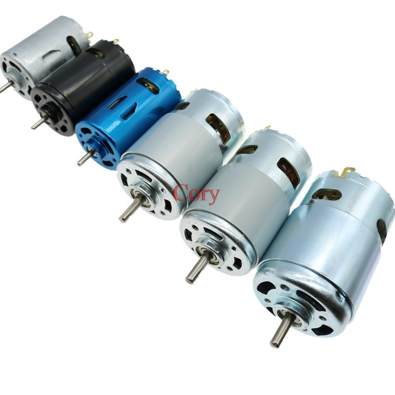1PC DC Motor 6V/7.4/12V/18V/24V 3000-15000RPM High Speed Large torque 390/540/550/555/775/795/895 Motor Electric Power Tool