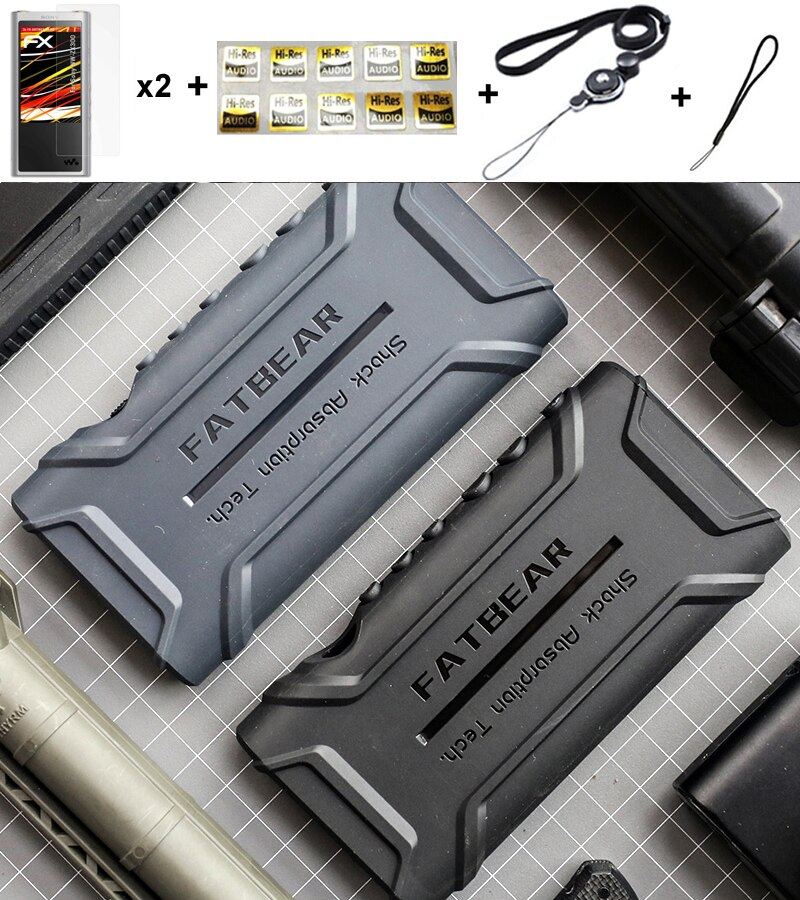 Funda protectora completa antideslizante antigolpes a prueba de golpes para Sony Walkman NW-ZX300 ZX300A NW ZX300