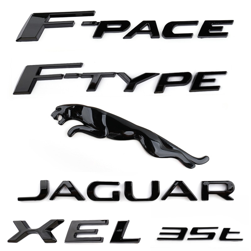 1pc automóvil letra adhesivo para maletero para Jaguar 3,0 5,0 V6 V8 35t XE XF XJL XJ XK E-tipo E-PACE F-PACE F-TYPE estilo 3D ABS trasera emblema