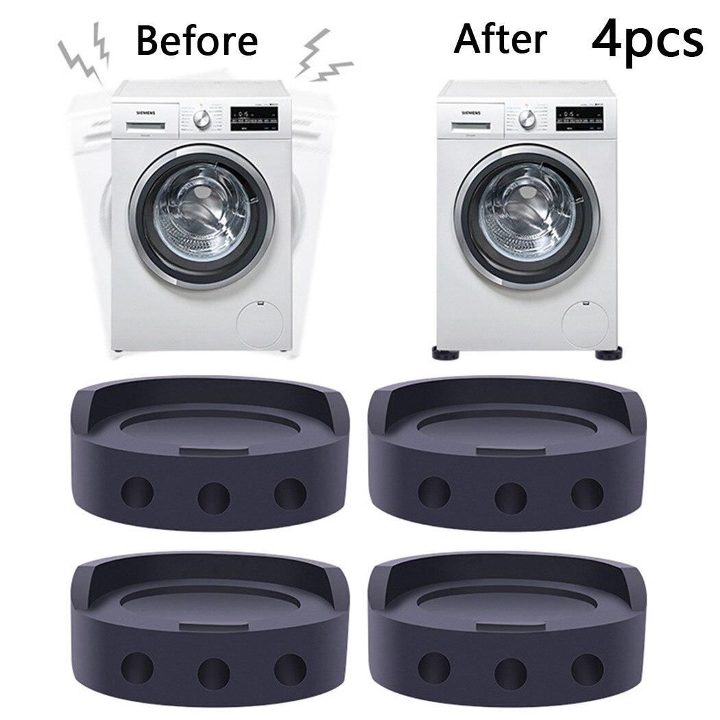 4 шт. ножки для стиральной машины износостойкие прокладки резиновый нескользящий коврик для стиральной машины/холодильника/кровати/дивана ...