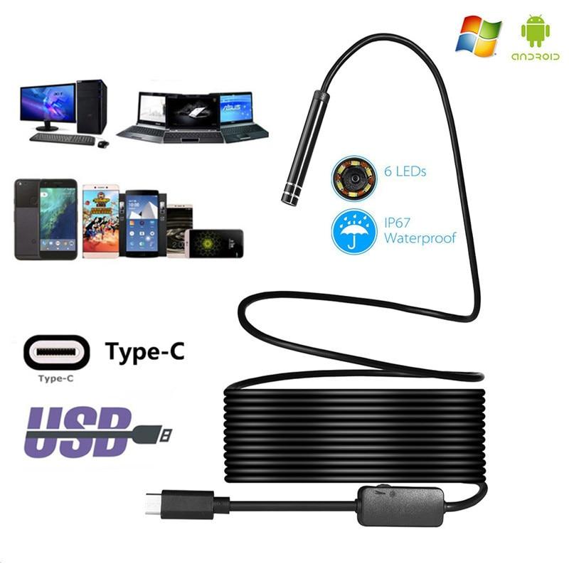 Type-c Android USB Endoscope Camera PC Endoscope for Android Smartphone Endoscope Type C Endoscope Mini Endoscopio Camera