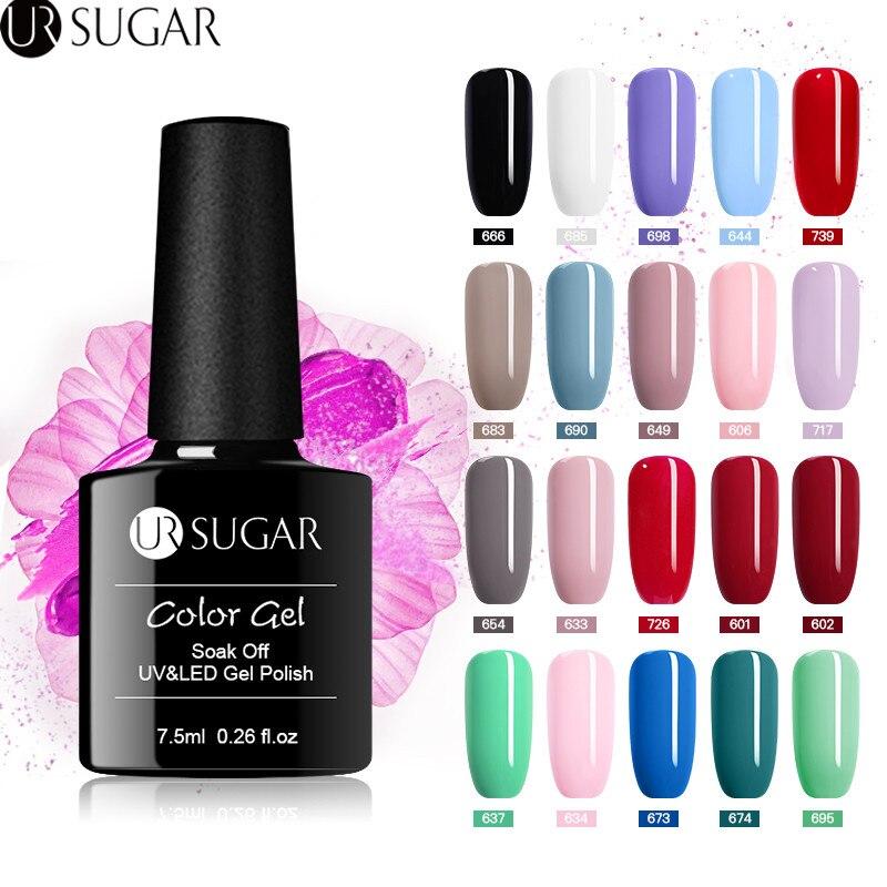 UR SUGAR 7.5ml Nail Gel Polish UV LED Gel Varnish for Finger Design Soak Off Gel varnish Long-Lasting Gel Paint Nail
