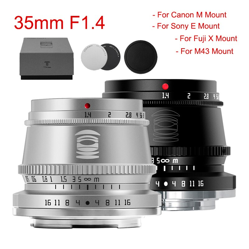 TTArtisan 35 مللي متر F1.4 APS-C عدسة لسوني E فوجي X نيكون Z كانون متر كاميرا MF عدسة لباناسونيك أوليمبوس M4/3 لايكا L جبل كاميرا