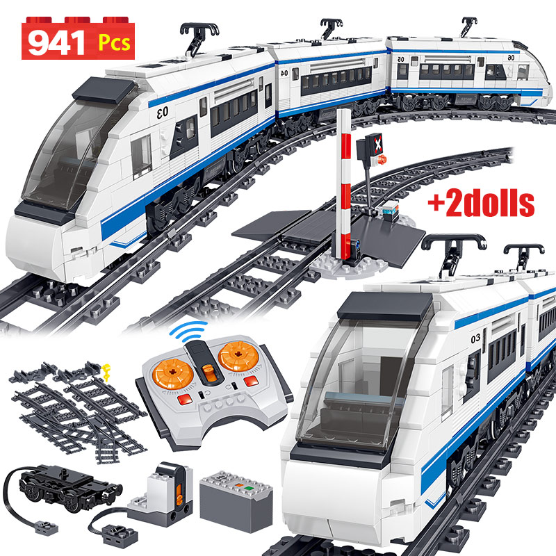 941pcs City Electric Harmony High-speed Rail Remote Control Building Blocks Train Track RC High-tech