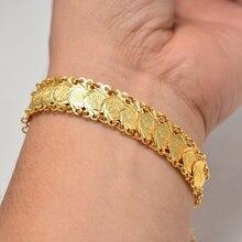 Or couleur pièces bracelets et Bracelet pour femmes hommes argent pièce Bracelet islamique musulman arabe moyen-orient bijoux cadeaux africains