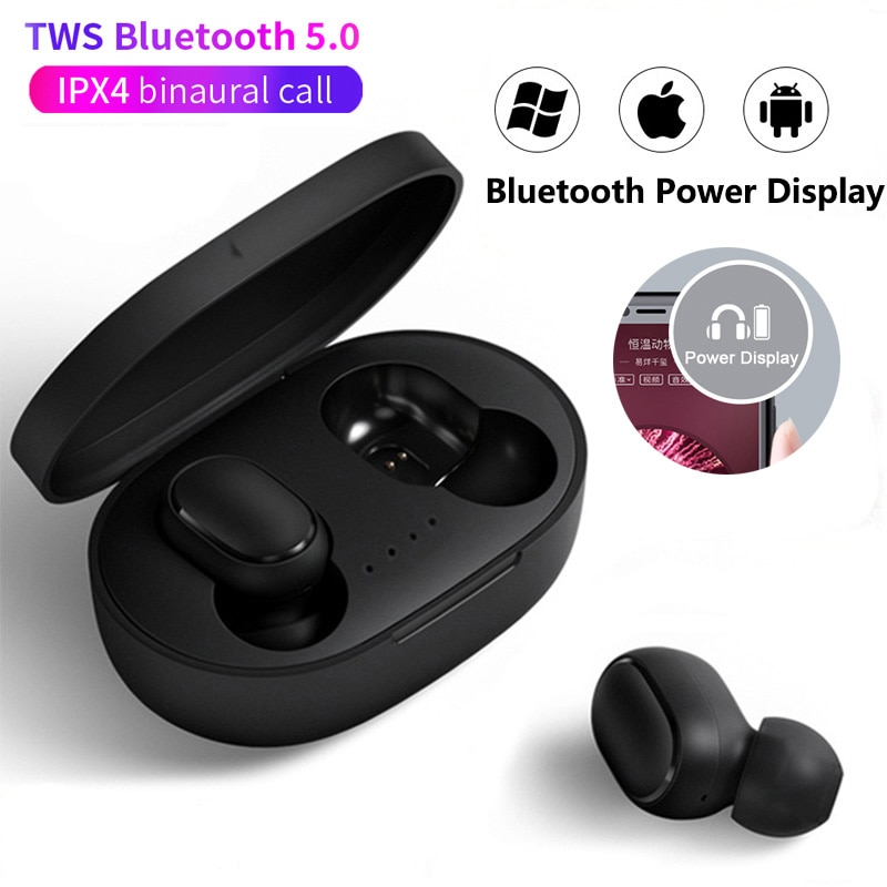A6S TWS Wireless Bluetooth Earphone Headset Earbuds Noise Cancelling Headsets with Mic Stereo Handsf