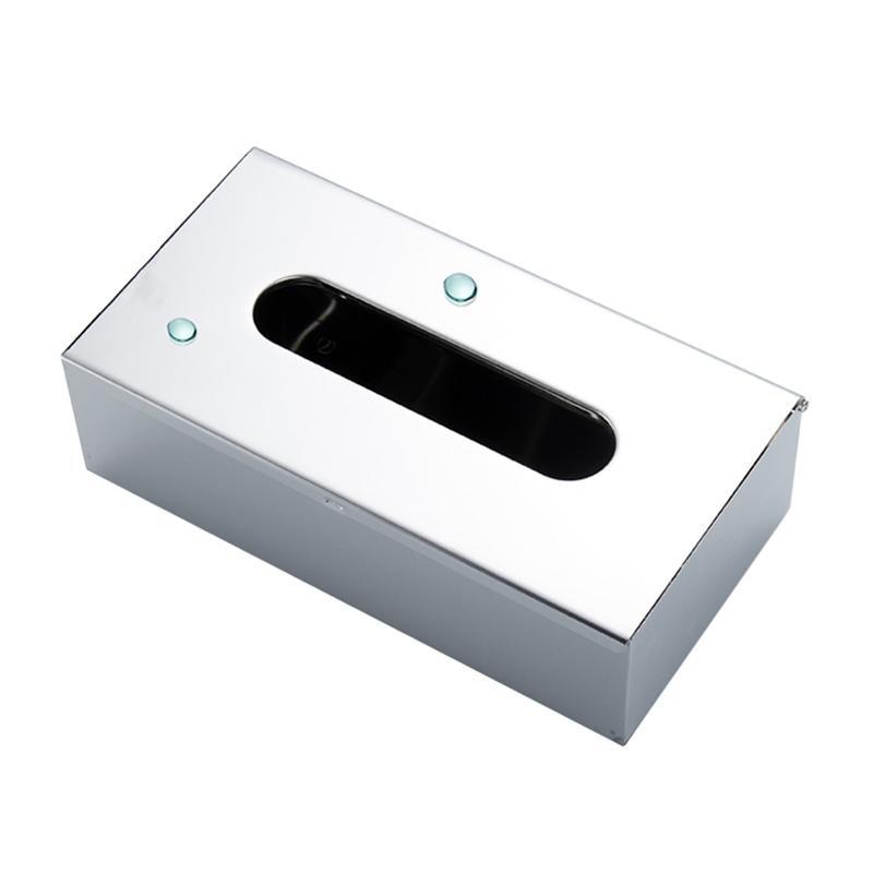 صندوق الأنسجة المنزلية العملي منضدية الفولاذ المقاوم للصدأ الأنسجة حاوية منظم مكتب contador Escritorio