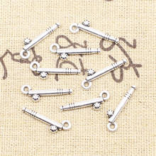 Supplies For Jewelry 8x22mm Golf Charms Antique Silver Color 20pcs