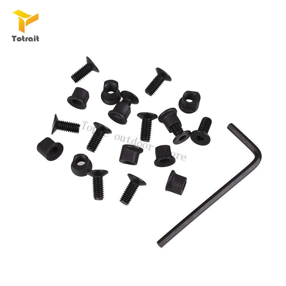 totrait 5 7 9 slots keymod TOtrait 10 Sets Keymod Rail Screws and Nuts for Keymod Rail Sections (10 x Screws and 10 x Nuts) Airsoft Accessory RL37-0084