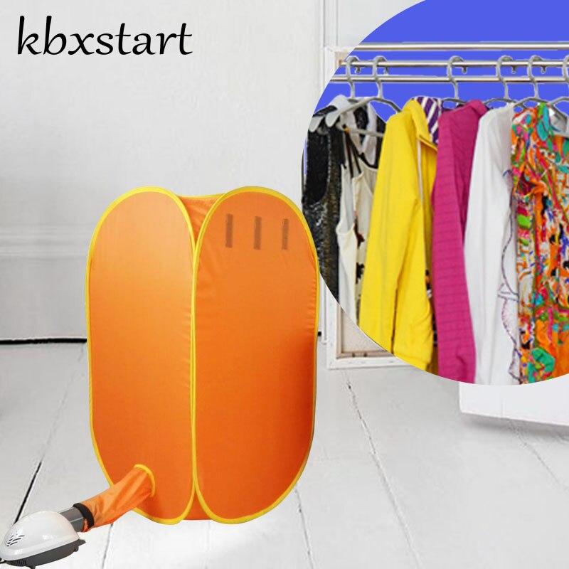 Kbxstart-Máquina secadora de ropa eléctrica de 110V/220V, armario Plegable con soporte Plegable, puede establecer tiempo de trabajo de 30-180 minutos