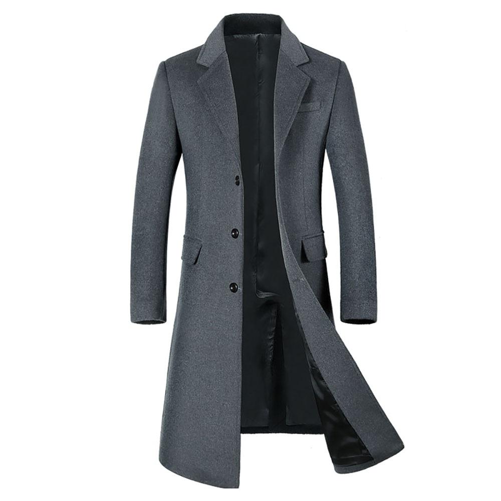 Invierno de los hombres ropa de cachemira de calidad abrigo largo abrigo chaqueta de la alta calidad abrigo de lana chaqueta de Cachemira para hombres abrigo de lana para los hombres