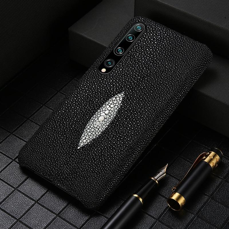 حافظة هاتف من الجلد الأصلي لؤلؤي لهاتف Mi 10 Ultra 10 Pro 8 9 Lite 9T A2 A3 حافظة لهاتف شاومي ريدمي نوت 8 برو 8T نوت 7 8
