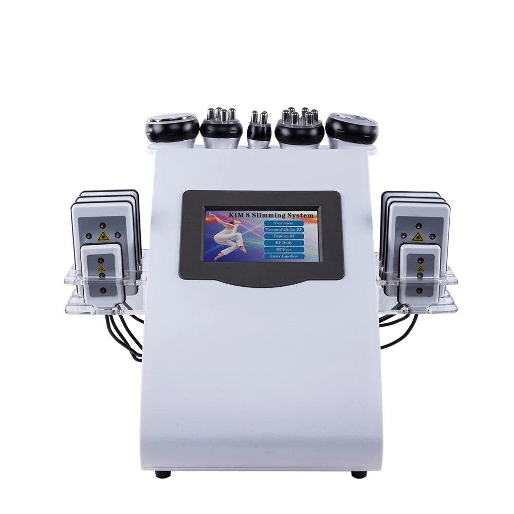 المهنية 40k فراغ RF Ultracavitacion كافيتاسيون 6 En 1 نظام Maquina أبريل دي ليبوكسيون الدهون آلة شفط الدهون