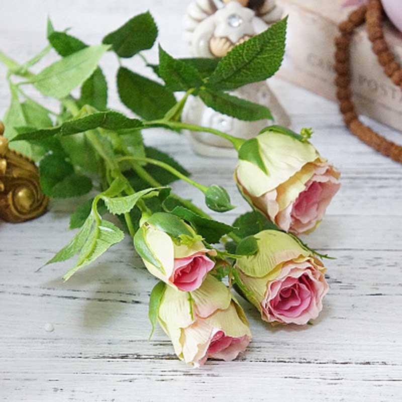 1 buquê 4 cabeças flores artificiais de alta qualidade seda rosa flores decoração para casa bela peônia flores festa de casamento decoração