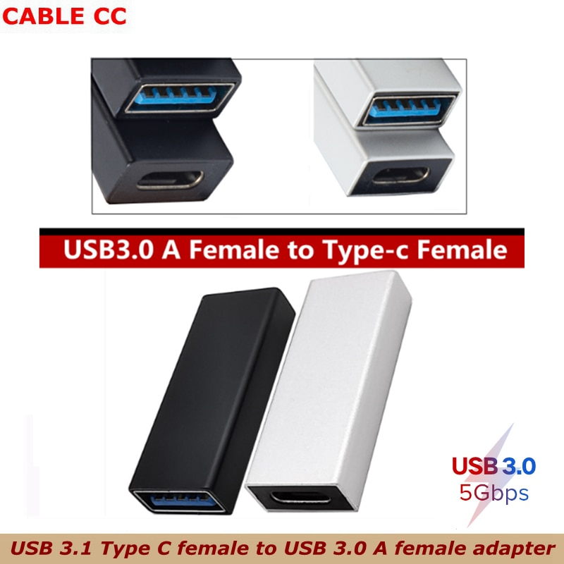 black silver High speed USB C USB 3.1 Type C female to USB 3.0 A female adapter converter adapter 5gbps data transmission
