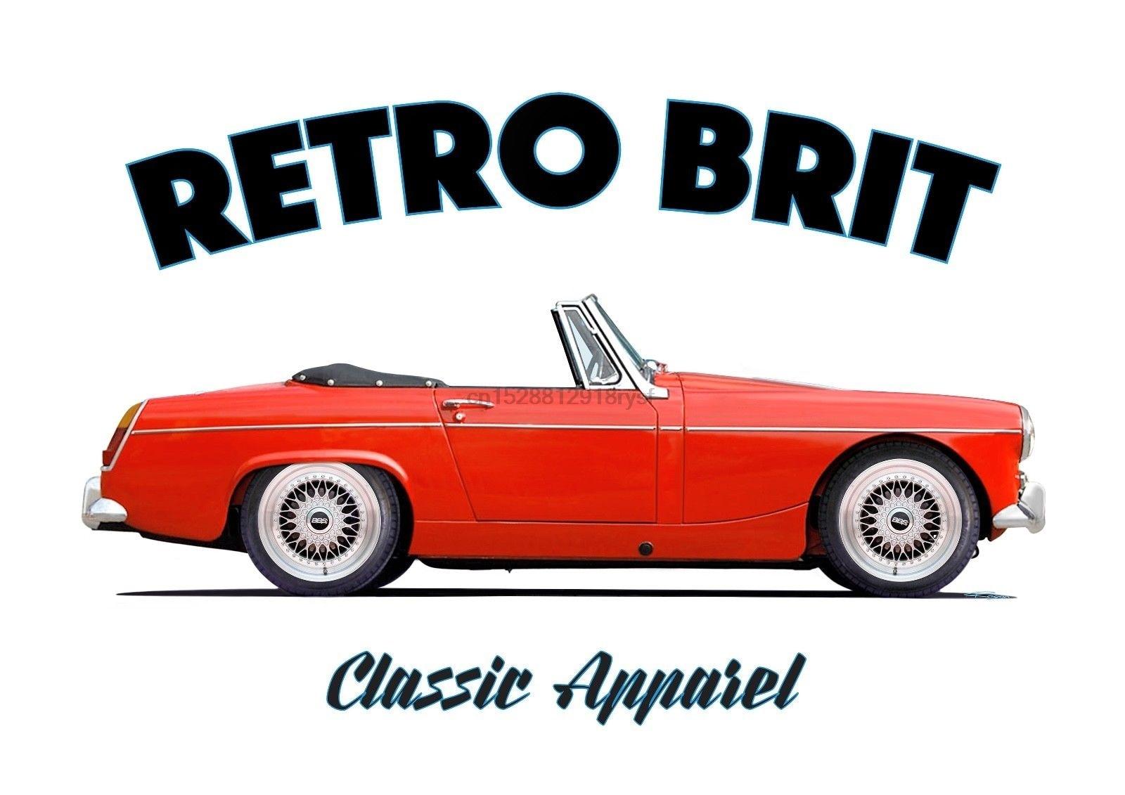 MG MIDGET de la serie 1 de camiseta RETRO BRIT ¡Coche clásico! ¿MORRIS garajes? BMC