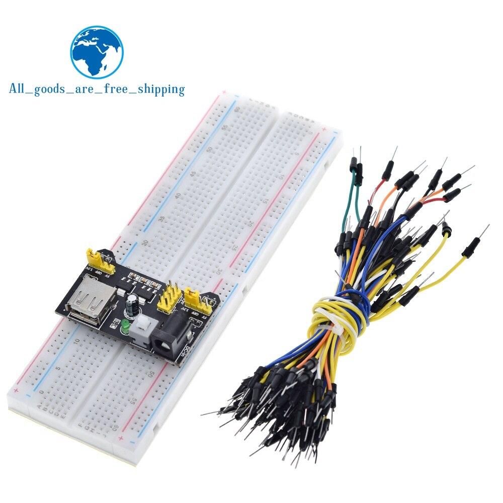 3,3 В/5 В MB102 макетная плата силовой модуль + MB-102 830 точек прототип хлебопечки для arduino комплект + 65 перемычек оптовая продажа