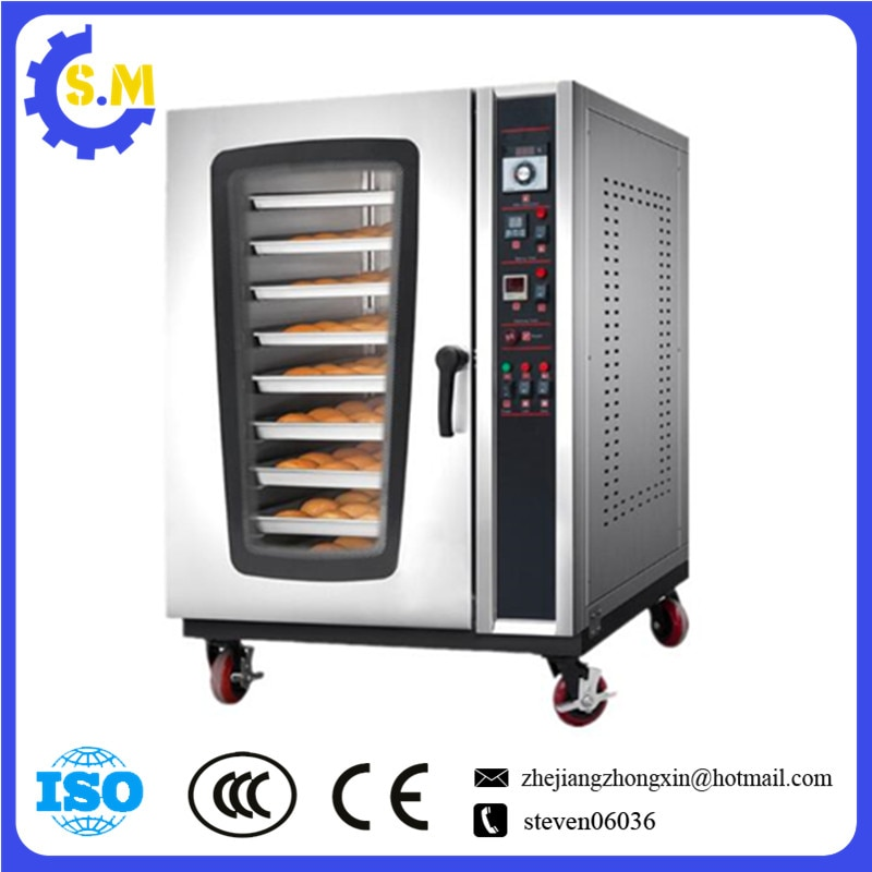 htr20q gas food oven of single deck of bakery equipment 8layers 8plates hot air oven Food oven Baking equipment in bakery 16trays electric Rotary Ovens