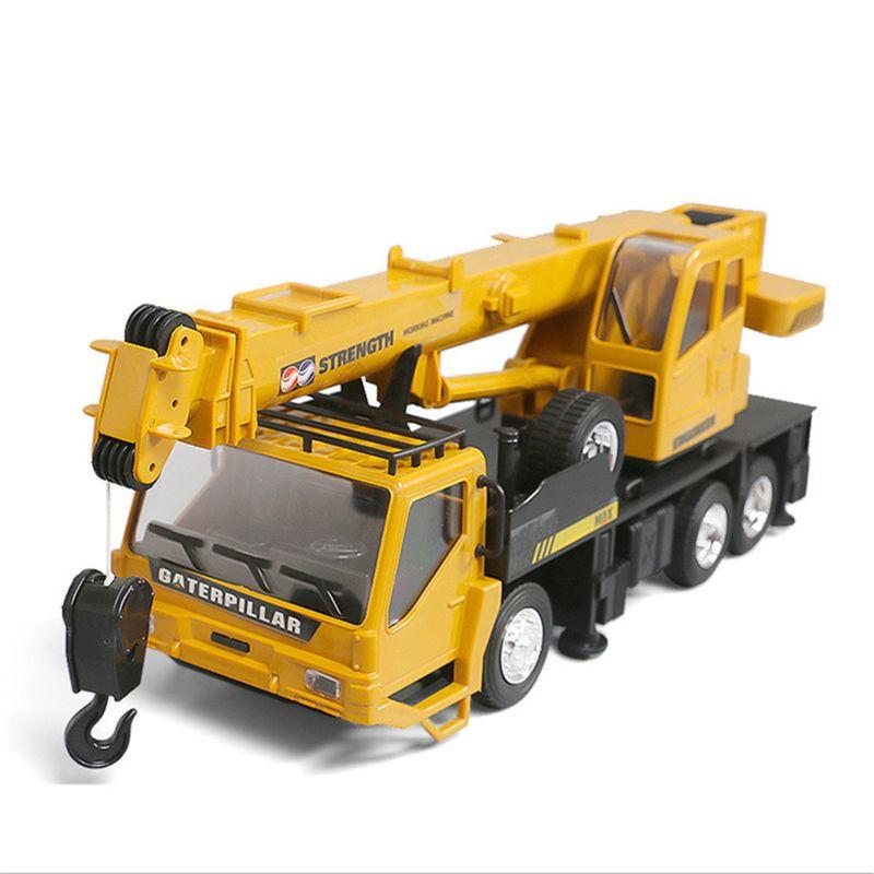 Rc Hoist Crane Model Engineering Car Toys For Children Birthday Xmas Good Gift Remote Control Freight Elevator enlarge