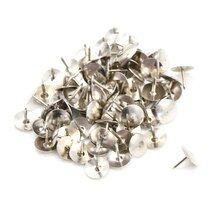 80 Stücke Silber Ton Corkboard Foto Push-Pins Reißnägeln