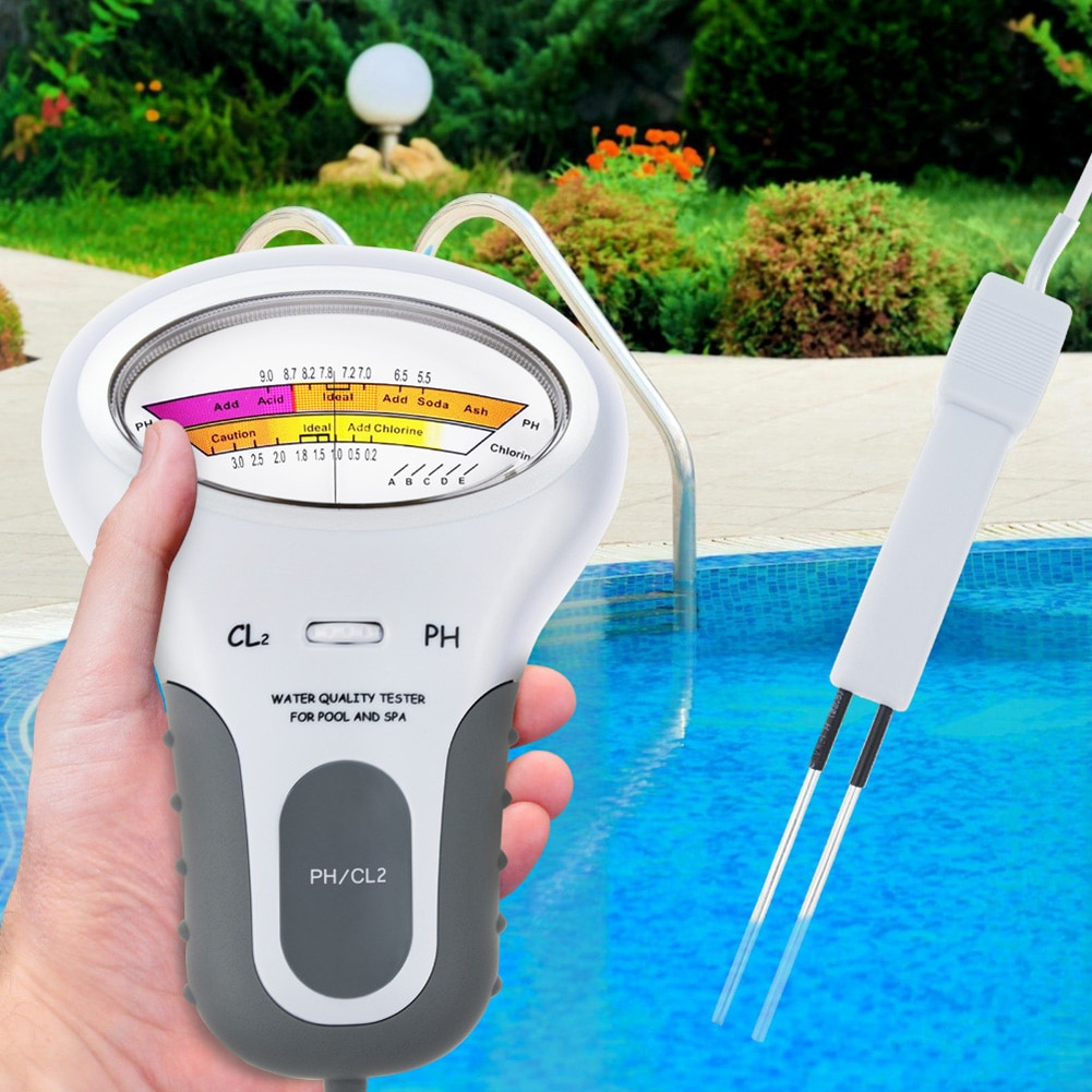 Chlorine Meters PH Tester 2 In 1 Testers Water Quality Testing Device CL2 Measuring For Swimming Pool Aquarium Drinking Water 2 in 1 chlorine tester water quality ph