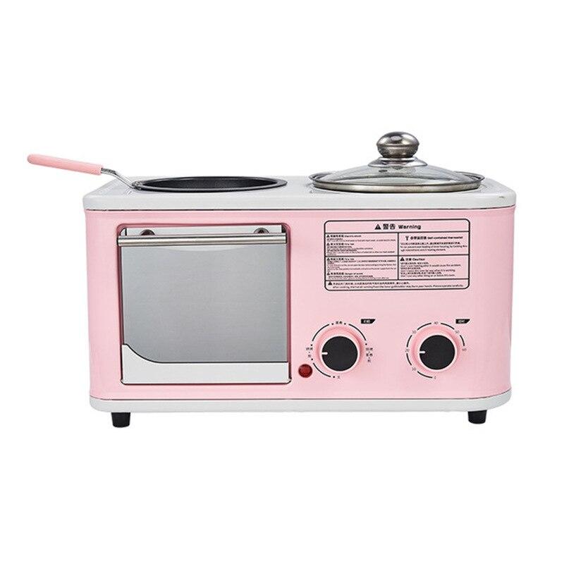 eletrica 3 em 1 maquina de cafe da manha do agregado familiar mini pao torradeira